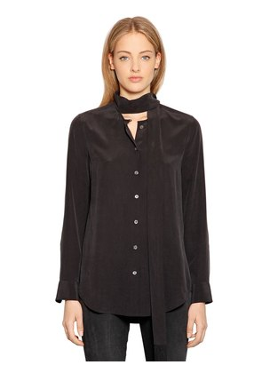 ESSENTIAL SHIRT WITH SCARF COLLAR