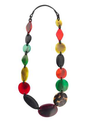 Monies beaded necklace - Red