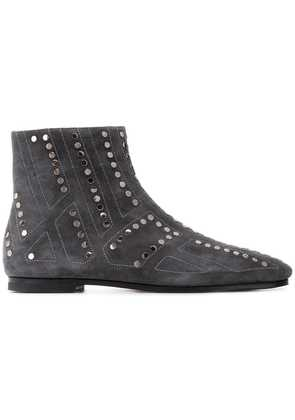 Bally studded ankle boots - Grey