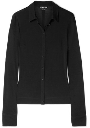 TOM FORD - Stretch-jersey Shirt - Black