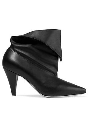 Givenchy - Fold-over Leather Ankle Boots - Black