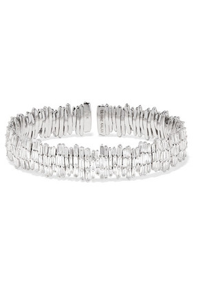 Suzanne Kalan - 18-karat White Gold Diamond Cuff - one size