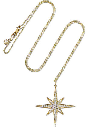 Sydney Evan - Starburst 14-karat Gold Diamond Necklace - one size