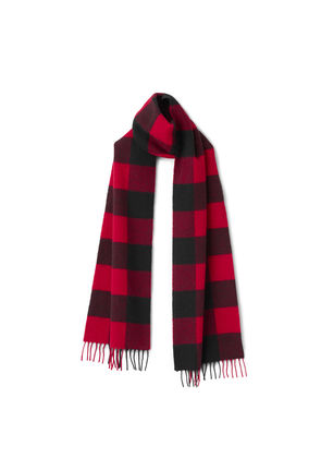 Check Scarf - Red
