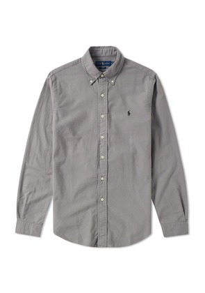 Polo Ralph Lauren Slim Fit Garment Dyed Oxford Shirt Grey