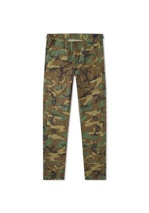 orSlow Slim Fit US Army Fatigue Pant Woodland Camo