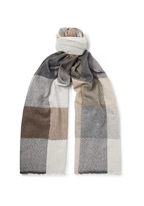 Brodick Busby Checked Cashmere Scarf