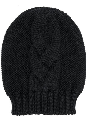 Semicouture cable knit beanie - Black