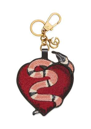 Gucci Heart and Kingsnake keychain - Red