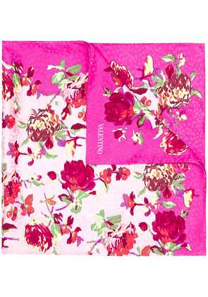 Valentino floral print scarf - Pink