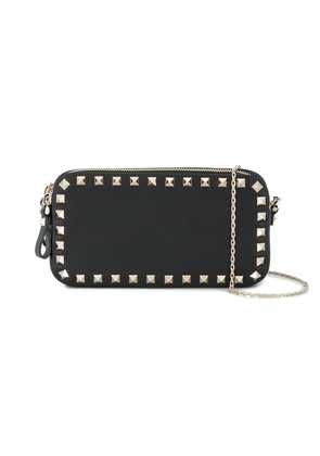 Valentino black Rockstud leather chain pouch