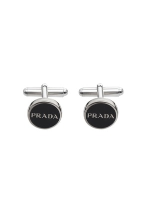 Prada logo cufflinks - Black