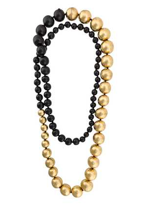 Monies large beaded necklace - Black