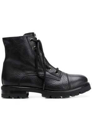 Agl zip lace-up boots - Black