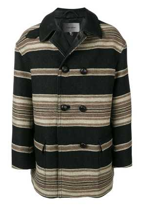 Isabel Marant striped coat - Black