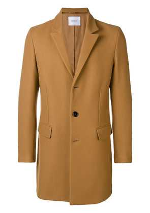 Dondup single-breasted buttoned coat - Brown