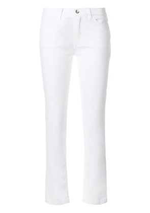 Dolce & Gabbana Ace of Hearts embroidered jeans - White