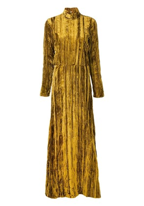 Stine Goya long-sleeve maxi dress - Gold
