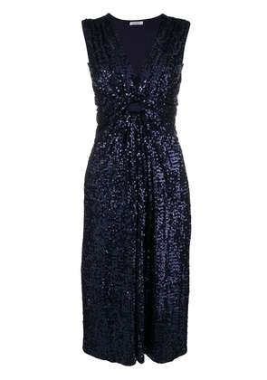 P.A.R.O.S.H. sequin drapped dress - Blue