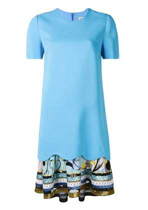 Emilio Pucci embroidered hem T-shirt dress - Blue