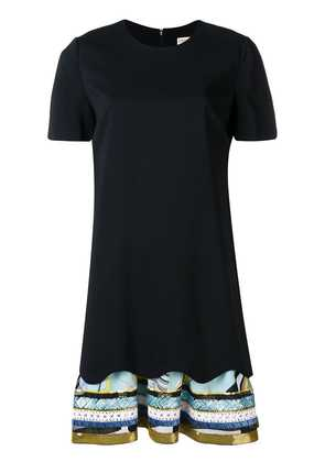 Emilio Pucci embroidered hem T-shirt dress - Black