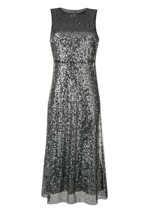 Ermanno Ermanno sleeveless sequin and lace midi dress - Grey