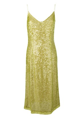 Walk Of Shame sequins embellished dress - Green