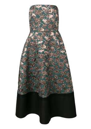Rochas floral pattern dress - Green