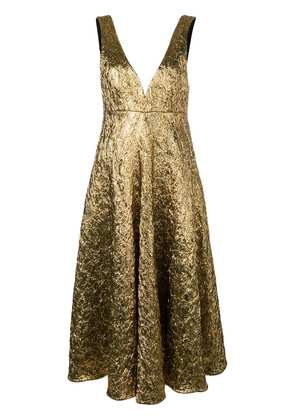 Rochas cocktail flared dress - Gold