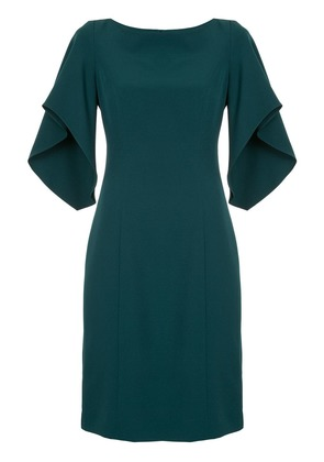 Milly ruffle sleeve midi dress - Green