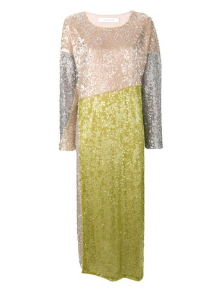Walk Of Shame sequins embellished dress - Neutrals