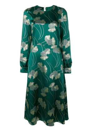 Rochas flared fitted dress - Green