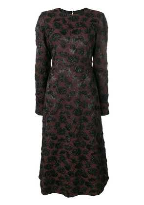 Rochas floral pattern dress - Brown