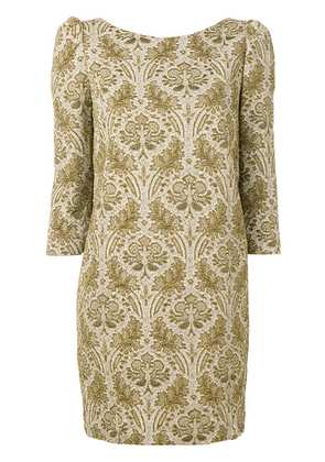 Semicouture jacquard mini dress - Gold