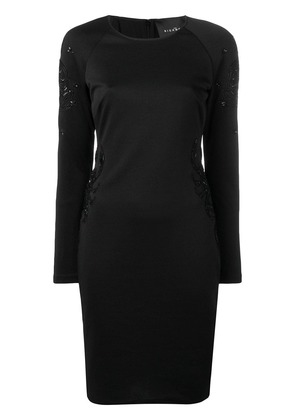 John Richmond long-sleeve fitted dress - Black