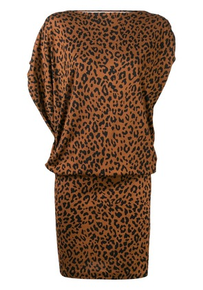 Dvf Diane Von Furstenberg silk leopard print dress - Brown