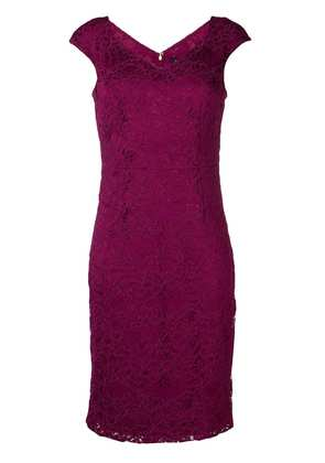 DKNY border flower dress - Purple