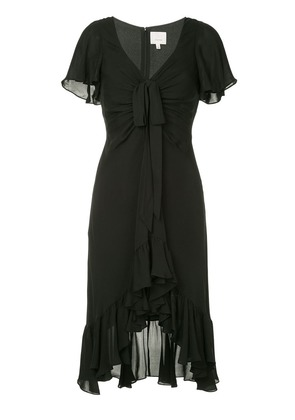 Cinq A Sept ruffled midi dress - Black