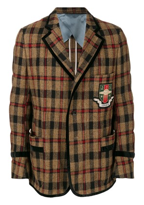Gucci collegiate loved blazer - Brown
