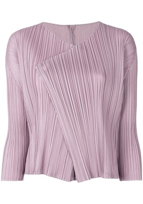 Pleats Please By Issey Miyake pleated design jacket - Pink