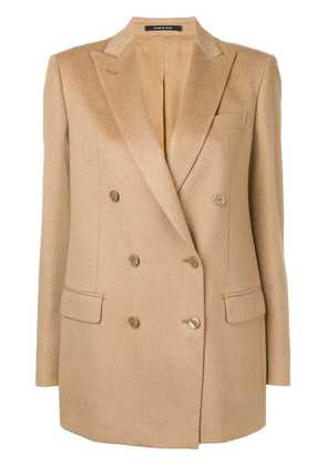 Tagliatore Jasmin double breasted jacket - Brown