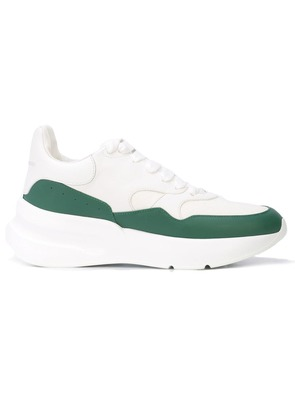 Alexander McQueen two tone sneakers - White