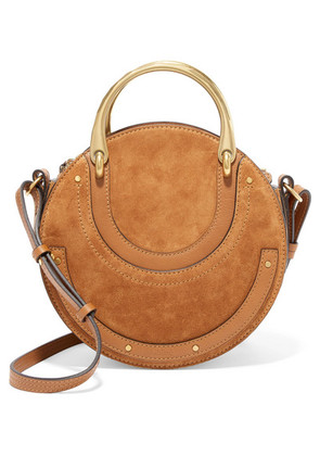 Chloé - Pixie Suede And Textured-leather Shoulder Bag - Brown