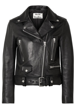 Acne Studios - Leather Biker Jacket - Black