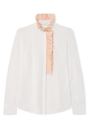 Chloé - Ruffle-trimmed Silk-georgette Blouse - Ivory