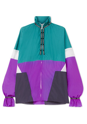 Vetements - Color-block Shell Blouse - Turquoise