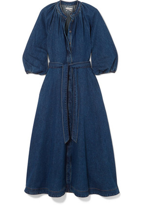 Co - Denim Midi Dress - Mid denim