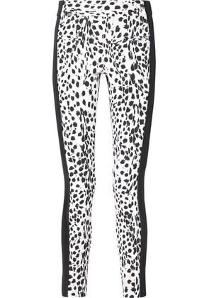 Haider Ackermann - Leopard-print Wool And Leather Slim-leg Pants - White