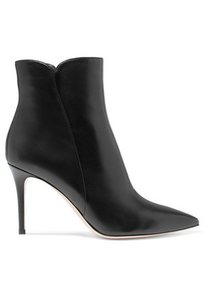 Gianvito Rossi - Levy 85 Leather Ankle Boots - Black