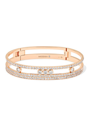 Messika - Move Romane 18-karat Rose Gold Diamond Bracelet - one size